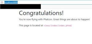 Phalcon DevTools (4.0.1)でプロジェクト作成する