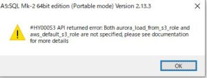 S3バケットのcsvファイルとかからAuroraにデータをインポートするLOAD DATA FROM S3