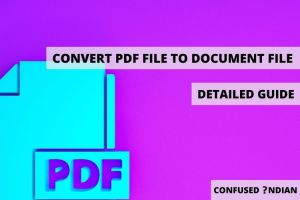 Basic Working Of The Conversions Into Document File From PDF