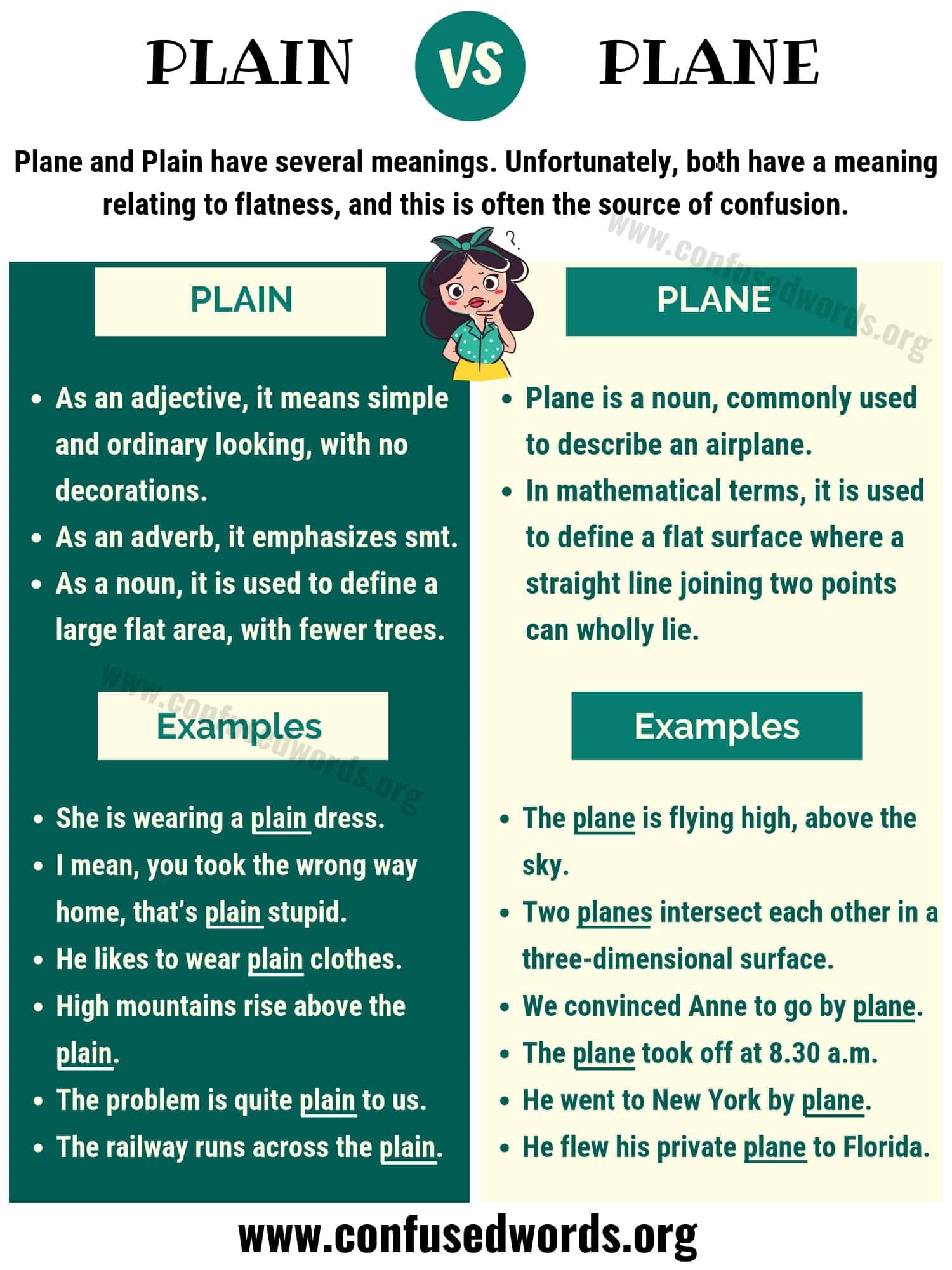 Plain Vs Plane How To Use Plane Vs Plain In English