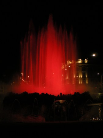 Fountain in red