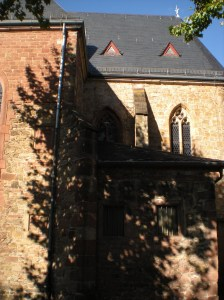 I liked how the tree shadow looked on the church