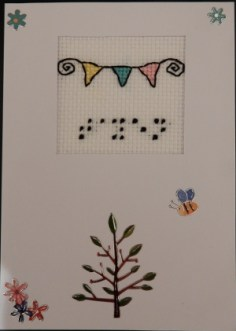 Braille card