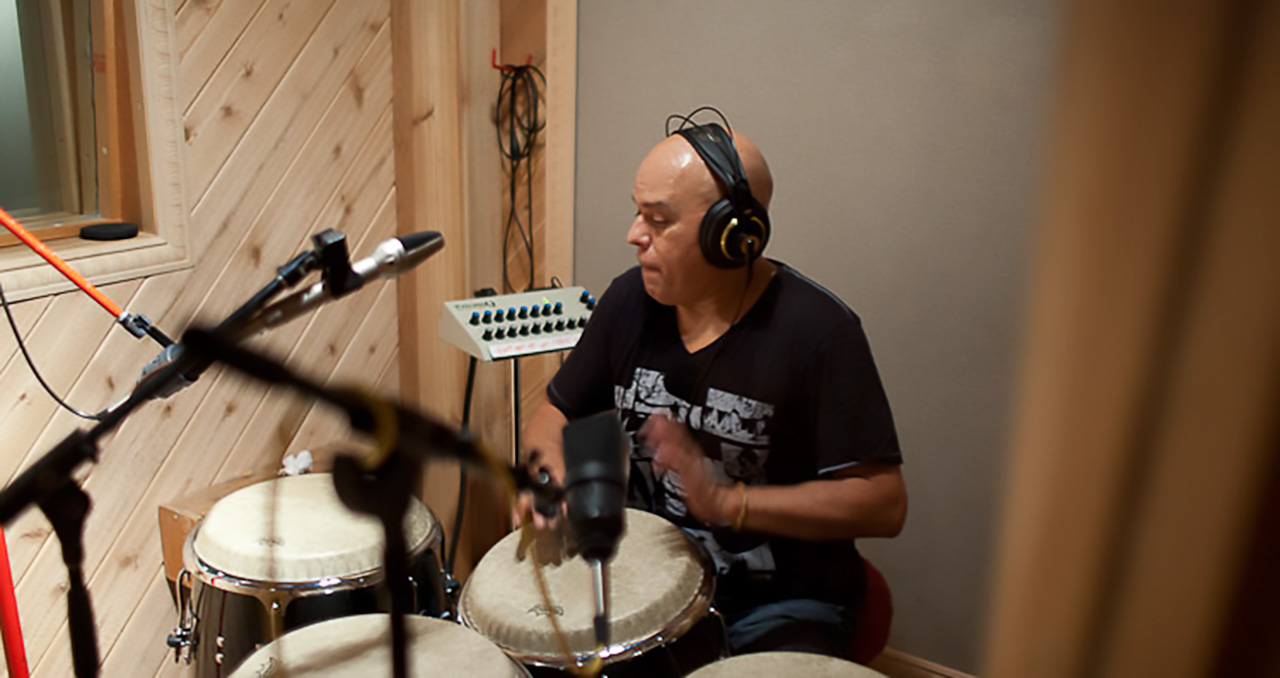 Little Johnny Rivero recording session.  October 19, 2011