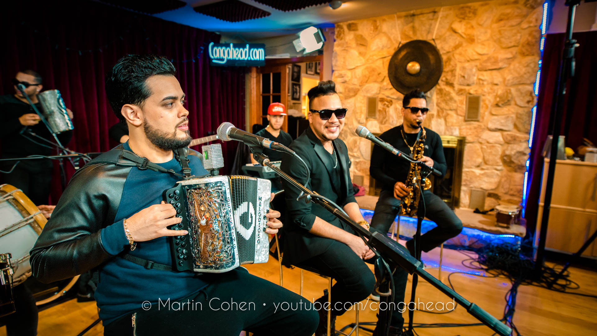 Tipico Urbano performs at Congahead Studios