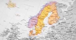 Bản đồ địa lý các nước Bắc Âu