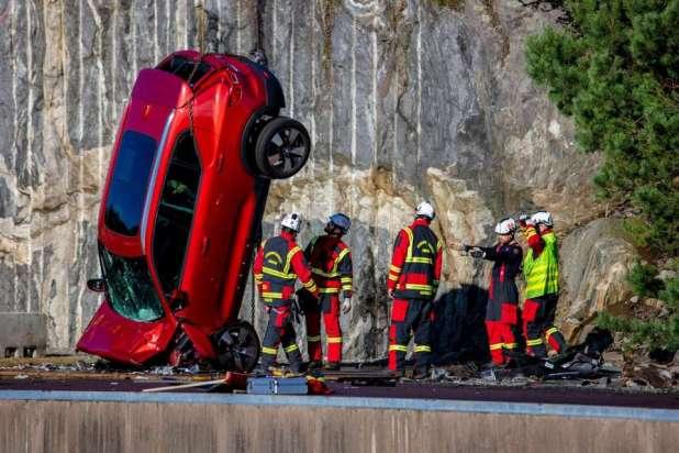 Đội cứu hộ Thuỵ Điển tập luyện ứng phó tai nạn