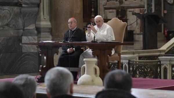 ĐTC gặp gỡ các linh mục Roma đầu mùa chay