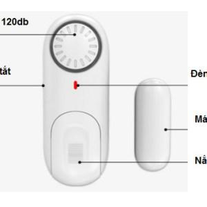 Báo động cảm biến má từ độc lập Kerui D1