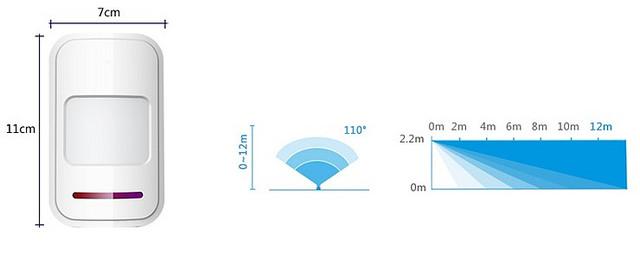 Cảm biến chuyển động hồng ngoại thân nhiệt Kerui P918