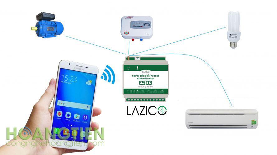 Công tắc điều khiển từ xa qua sim Lazico ES03