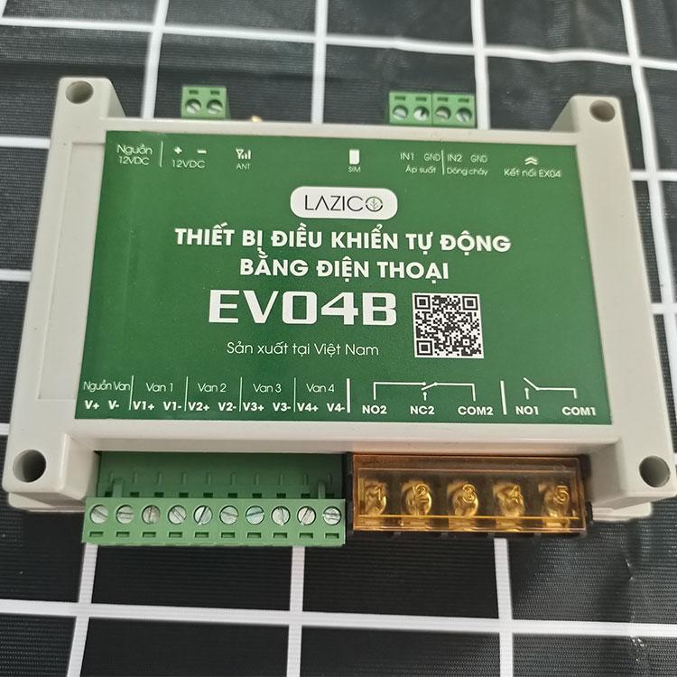Bộ điều khiển bơm và van tưới qua điện thoại Lazico EV04B