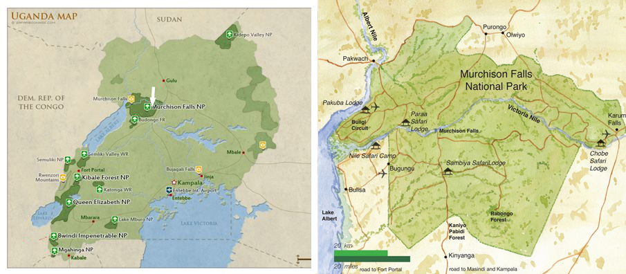 murchision-national-park-map