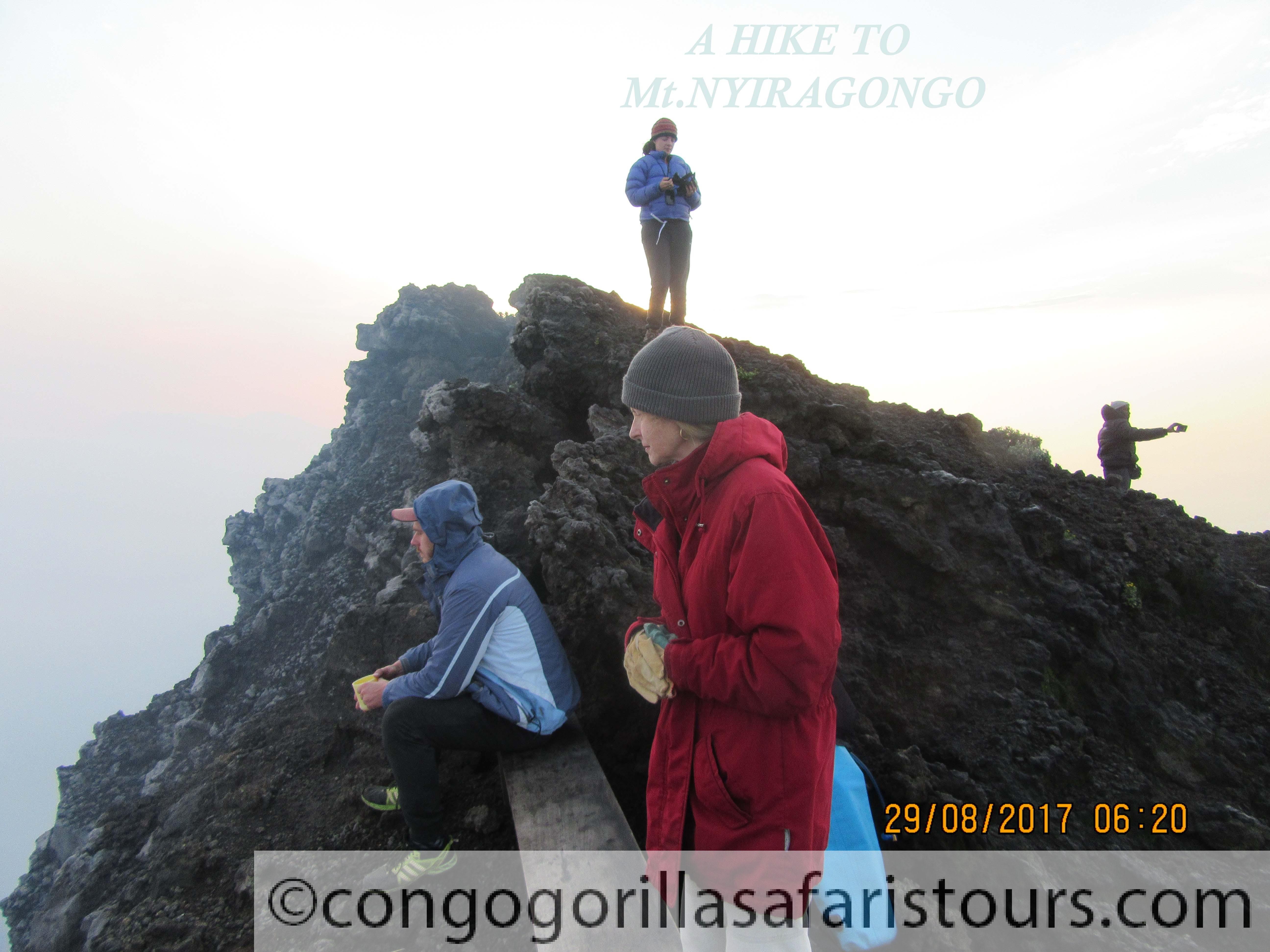 A hike to Mount Nyiragongo