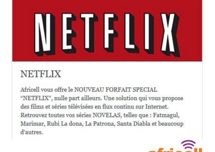"""AFRICELL: Les séries Novelas à gogo avec le forfait """" NETFLIX """""""