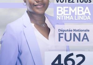 RDC/Législatives 2018 : Linda Bemba Ntima, la compétence qui rassure Funa