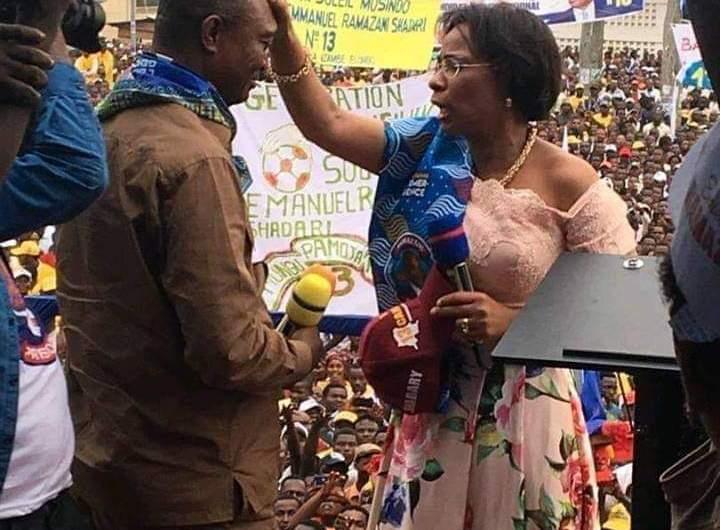 RDC/Kisangani: Olive Lembe Kabila a consacré la victoire de Ramazani Shadary par une prière