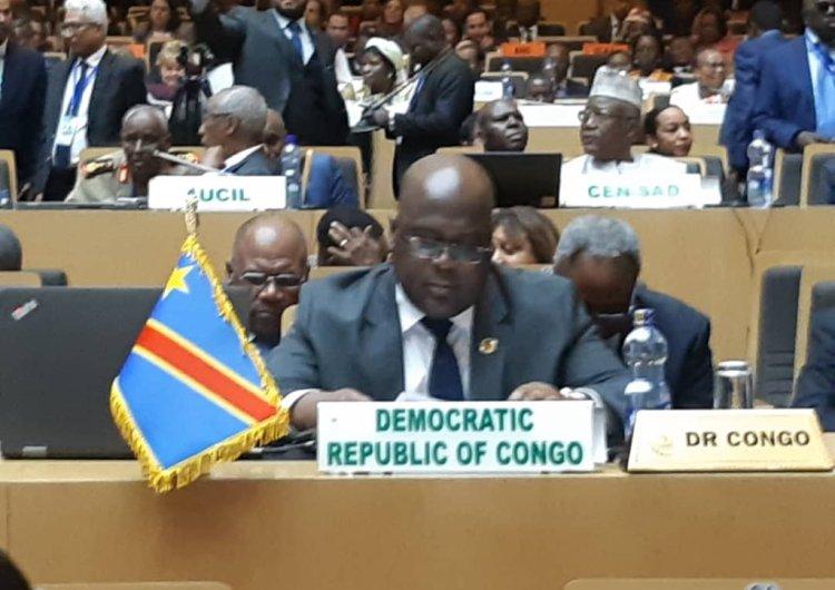 RDC/UA: F. Tshisekedi salue l'alternance pacifique et s'engage à consolider la paix et le développement