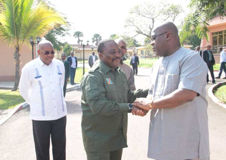 RDC: J.Kabila chez F. Tshisekedi à la cité de l'UA !