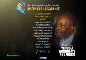 RDC:J. Kabila a rendu hommage à Yerodia Abdoulaye Ndombasi au Palais du peuple