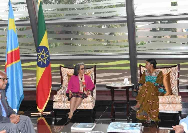RDC: la présidente de l'Éthiopie Sahle Work Zewde en visite de travail à Kinshasa