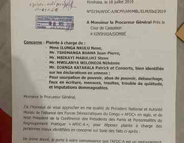 RDC : Bahati Lukwebo porte plainte contre Néhémie Mwilanya et les frondeurs de l'AFDC-A