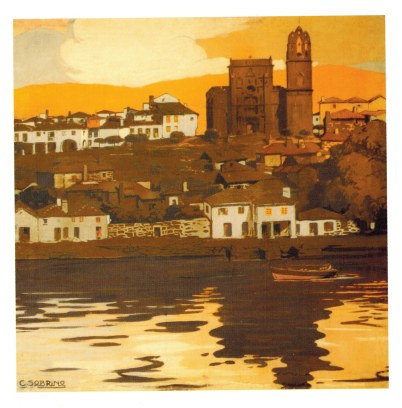 Cartel de la Ciudad de Pontevedra en la Exposición Ibero-Americana de Sevilla, 1929 (Autor: Carlos Sobrino. Museo de Pontevedra)