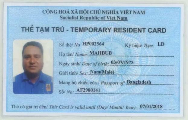Dịch vụ làm thẻ tạm trú cho người nước ngoài