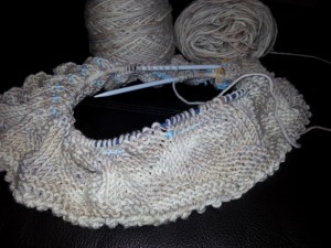 Relaxing meant working on a knit-along. Found the perfect yarn at a little shop not too far from Ben's abode.