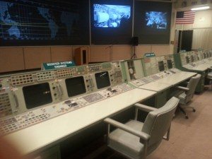 Original mission control room, no longer used; but you may recognize it from the movie Apollo 13.