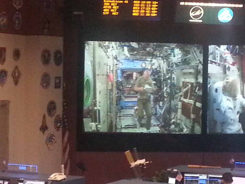 New control room with a live feed from the space station. The guys got to view the mission in real time. A highlight.