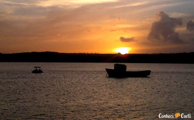 Pôr do Sol na praia do Jacaré. Paraíba