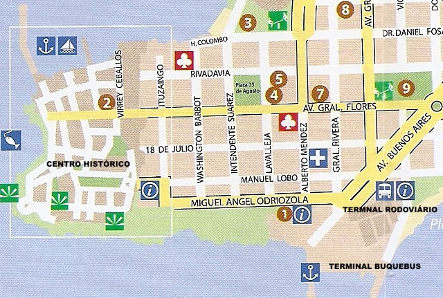 Mapa Colonial del Sacramento