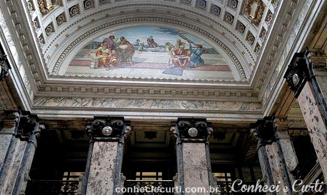 Mosaico veneziano representando as As Ciências
