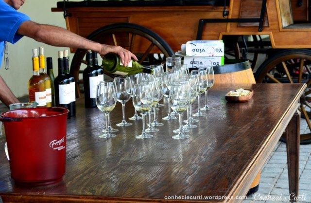 Degustação de vinhos na Vinã Undurraga