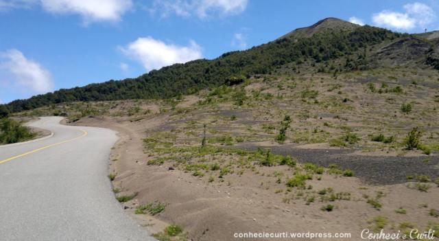 Estrada de acesso ao vulcão Osorno, Lagos Andinos, Chile