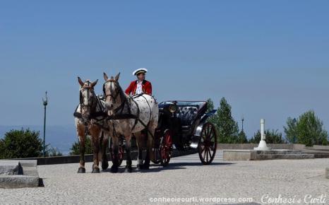 Santuário do Sameiro, a carruagem aguardando os noivos, Braga - Portugal