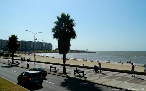 Os hotéis onde ficamos no Uruguai e Argentina