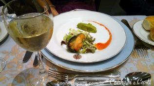 Guacamole rustico con camarones, casa de tango Café de los Angelitos