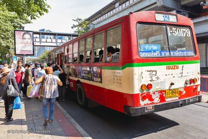 Ônibus em Bangkok