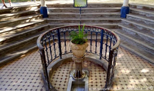Fonte D. Leopoldina no Parque das Águas em Caxambu - MG
