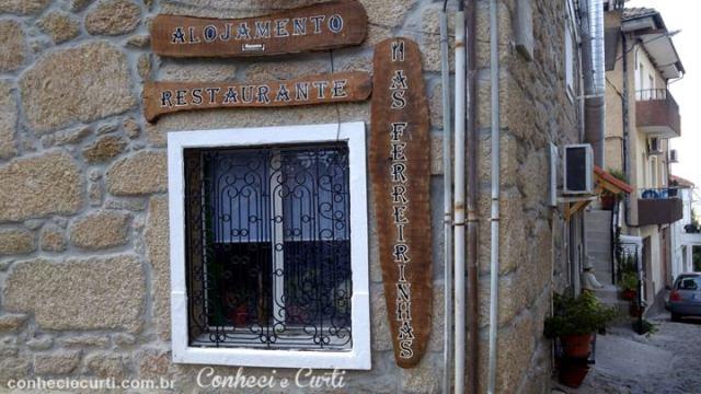 O restaurante As Ferreirinhas em Belmonte. Aldeias Históricas
