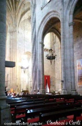 Interior da Sé de Guarda, Portugal.