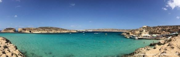 Blue Lagoon, Comino - Malta. Mar mediterrâneo
