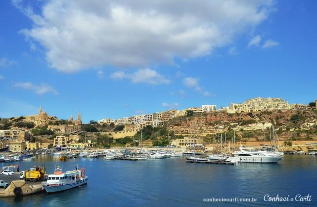Passeio de barco de Malta para Gozo, vista panorâmica.