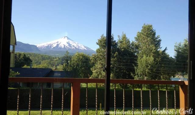 A incrível vista do Vulcão Villarrica - Frontera Hostel Pucón