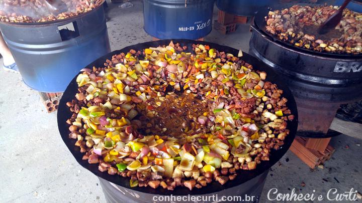 O Entrevero,prato típico do sul do Brasil. Em Tomazina, PR