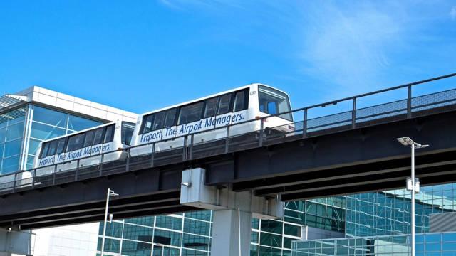 O Sky Line do Aeroporto de Frankfurt.