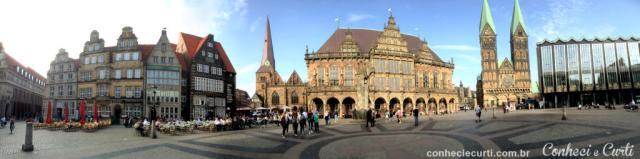 A Markplatz (Praça do Mercado) de Bremen, Alemanha.