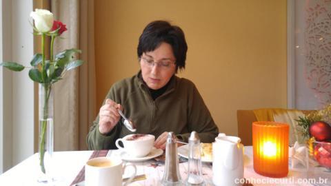 Um dos muitos cafés que tomamos em Bremen.
